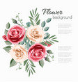 abstract flower vintage background with colorful vector image vector image