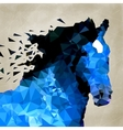 Abstract horse of geometric shape symbol vector image vector image