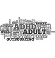 adult adhd entrepreneurs sneaky little killers vector image vector image