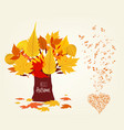 an autumn leaves design and musical is my soul vector image vector image