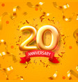anniversary ceremony balloons 20 numbers vector image vector image