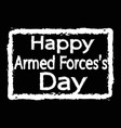 armed forces day design vector image