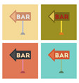 assembly flat icons poker bar sign vector image vector image