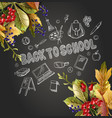 banner back to school with realistic leaves vector image vector image