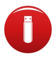 big flash drive icon red vector image vector image