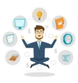 Businessman Icon Concept Poster vector image vector image