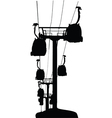 Cable-cars silhouette vector image vector image