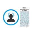 Caesar Rounded Icon with 1000 Bonus Icons vector image vector image