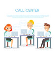 call center operators vector image vector image