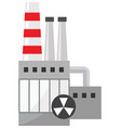 chemical plant icon vector image vector image