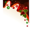 christmas background with holly berry vector image