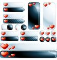 collection glossy design elements vector image vector image