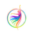 colorful dance abstract logo template vector image vector image