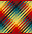 colorful repeatable motif with diagonal lines vector image vector image