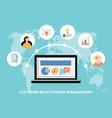 concept customer relationship management system vector image vector image