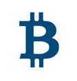 concept of bitcoin crypto coin vector image vector image