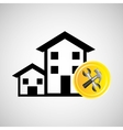 construction remodel hammer and wrench icon vector image vector image
