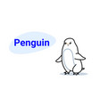 cute little penguin cartoon comic character vector image