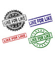 damaged textured like for like stamp seals vector image vector image