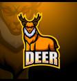 deer mascot esport logo design vector image vector image