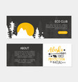 eco club landing page template with space for text vector image vector image
