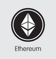 ethereum cryptocurrency - colored logo vector image vector image