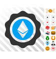 ethereum seal icon with bonus vector image vector image