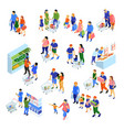 family shopping set vector image vector image