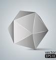 geometric figure Icosahedron vector image vector image