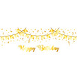 golden streamer and confetti vector image vector image