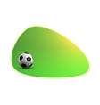 Green Banner with Soccer Ball vector image vector image