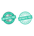 grunge stamp and silver label antibiotics free vector image vector image