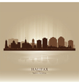 Halifax Canada skyline city silhouette vector image vector image