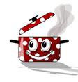 happy cooking cartoon vector image vector image