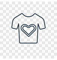heart shaped clothes concept linear icon isolated vector image vector image