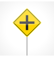 Intersection ahead vector image vector image