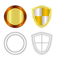 isolated object of emblem and badge logo set of vector image