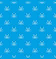 jewelry bijouterie pattern seamless blue vector image vector image