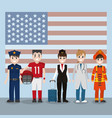 labor day workers cartoon vector image