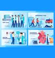 medical clinic website design healthcare center vector image vector image