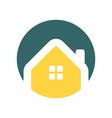 minimalist house circle icon vector image