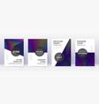 modern brochure design template set rainbow abstr vector image vector image