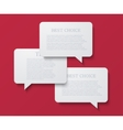 modern bubble speech or chat vector image