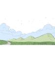 Mountain Landscape Scene vector image vector image