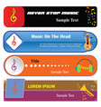 music-infographic-option-banner vector image vector image