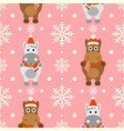 new year seamless background with funny horse vector image vector image