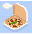 pizza Tasty pizza in the box vector image