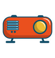 retro orange radio receiver icon cartoon style vector image vector image