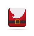 Santa Claus colorful button christmas vector image