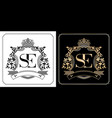 se royal emblem with crown initial letter vector image vector image
